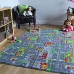 Large Play Village Roads Playroom Rug