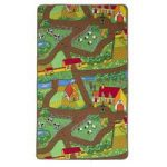 Bright Country Farm Kid's Animal Play Rug
