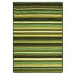 Luna Green Stripy Easy Clean Non Slip Mat