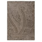 Grey Damask Contemporary Rug Essence 120X170
