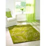Green Floral Contemporary Rug Medow 120X170