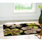 Green & Black Carved Contemporary Rug Medow 120X170