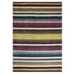 Multi Stripe Contemporary Wool Rug Cavoni 80X150