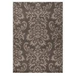 Grey Carved Damask Modern Wool Rug 120X170