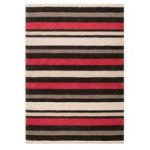 Red & Black Stripes Modern Rug Pasto 80X150