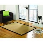 Black Herringbone Jute Rug Prague 160X230