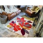 Brown Carved Floral Contemporary Rug Jawa 120X170