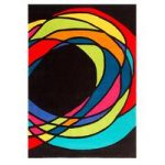 Black Multi Spiral Twist Contemporary Rug Jawa 160X230