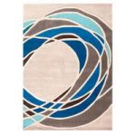 Grey Blue Sea Breeze Contemporary Rug Jawa 120X170