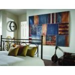 Blue Red American Wovan Patchwork Rug Cali 130X180
