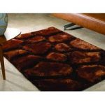 Brown Pebbles Shaggy Rug Kiev 120X170