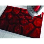 Red Pebbles Shaggy Rug Kiev 160X230