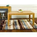 Blue Striped Silky Shaggy Rug Tunis 80X150