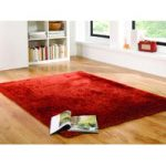 Orange Swirl Shaggy Rug Corfu 80X150