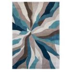Teal Splinter Contemporary Rug Banbury 160X220