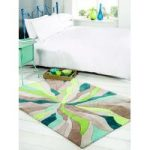 Teal, Green Splinter Contemporary Rug Banbury 80X150