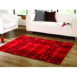 Red Criss Cross Contemporary Rug Banbury 80X150