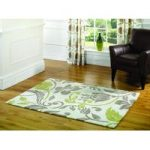 Natural & Green Damask Modern Rug Banbury 160X220