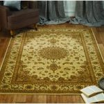 Cream Medallion Traditional Rug Bethlehem 80X150