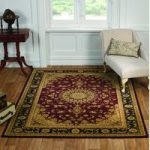 Red & Black Medallion Traditional Rug Bethlehem 120X170