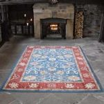 Blue, Red Ziegler Traditional Rug Chobi 60X230