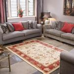 Cream & Red Ziegler Traditional Rug Chobi 80X150