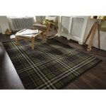 Black Highland Tartan Rug Inverness 80X150