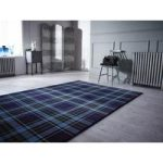 Blue Highland Tartan Rug Inverness 80X150
