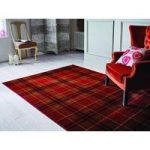 Red Highland Tartan Rug Inverness 80X150
