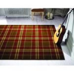 Tan Highland Tartan Rug Inverness 120X170