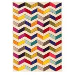 Multi Chevron Contemporary Rug San Fan 80X150