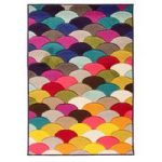 Multi Pebble Contemporary Rug San Fan 80X150