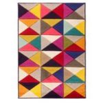 Multi Triangle Contemporary Rug San Fan 80X150