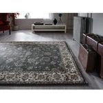 Grey Vintage Bordered Traditional Rug Munich 60X230