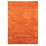 Orange Plain Shaggy Rug Petersberg 133X133