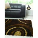 Brown Shaggy Rug Petersberg 160X230