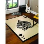 Multi Ace Of Spades Contemporary Rug Majorca 160X225