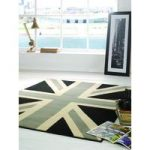 Grey Cream & Black Retro Rug Majorca 120X160