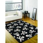 Cross Bones Black Rug Majorca 120X160
