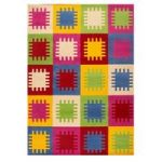 Multi Coloured Pegs Modern Rug Majorca 120X160