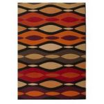 Brown Twist Retro Rug Majorca 120X160