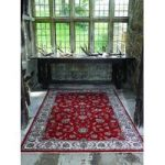Red Vintage Bordered Traditional Rug Munich 120X170