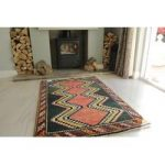 Persian Gabbeh Green Wool Rug