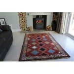 Red Blue Hand Tufted Gabbeh Persian Rug