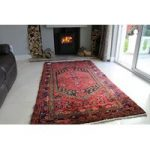 Large Hand Tufted Hamadan Wool Rug