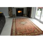 Red Hossainabad HandTufted Persian Rug