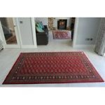 Large Red Pakistan Mori Oriental Rug