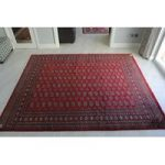 Red Oriental Pakistan Mori Wool Rug