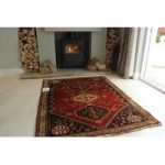 Hand Made Red Persian Qashqai Wool Rug