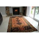 Orange Hand Made Persian Qashqai Wool Rug